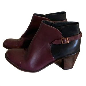 Wolverine Oxblood Leather Boots - Women's Size 9.5